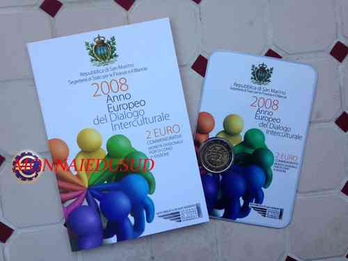 2 Euro CC BU Saint-Marin 2008 - Dialogue Interculturel