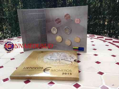 Coffret BU 1 Cent à 2 Euro Lituanie 2015 - Coffret Officiel