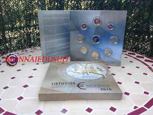 Coffret BE 1 Cent à 2 Euro Lituanie 2015 - Coffret Proof Officiel