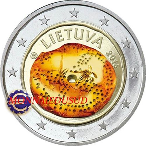 2 Euro Commémorative Lituanie 2016 en Couleur Type B - Culture Baltique