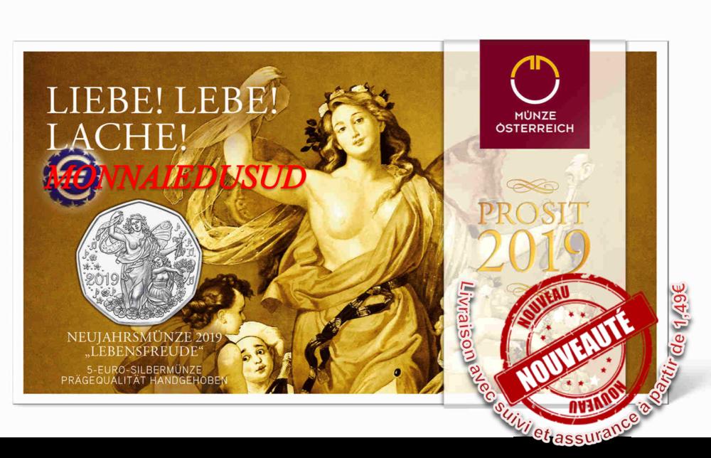 Coincard 5 Euro Argent Autriche 2019 Bu Joie De Vivre Monnaiedusud