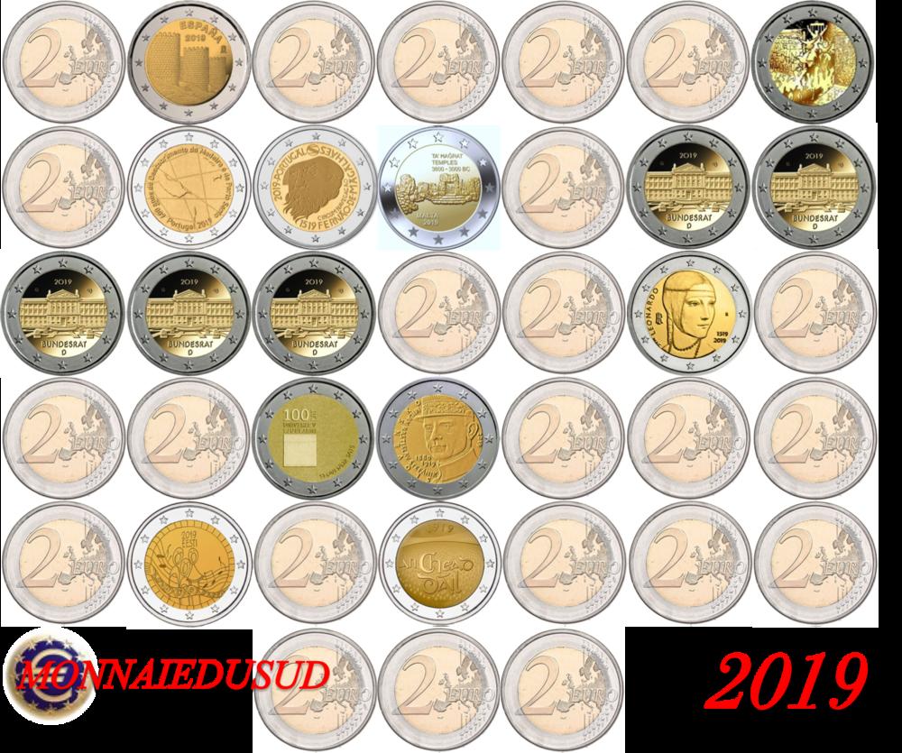 Abonnement N 1 39 Pièces De 2 Euro Commémorative 2019 Unc Avec 5 Ateliers Allemands
