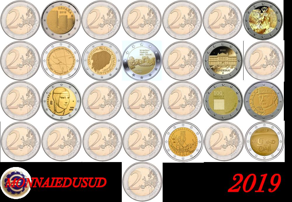 Abonnement N 3 26 Pièces De 2 Euro Commémorative 2019 Unc
