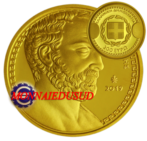 200 Euro BE/Proof OR Grèce 2019 Thucydide - Belle Epreuve