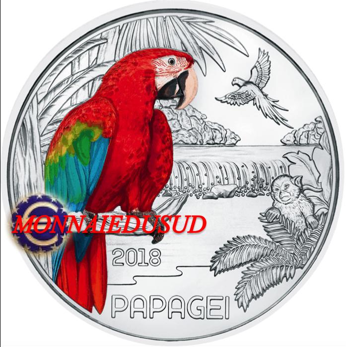3 Euro Commémorative Autriche 2018 Couleur - Le Perroquet UNC