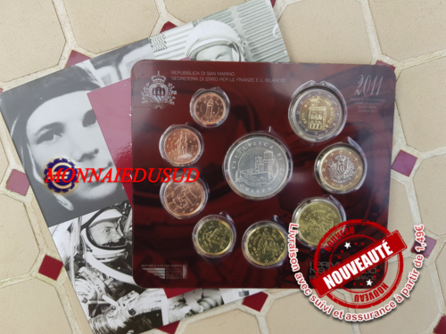 Coffret BU 1 Cent à 2 Euro + 5 Euro Saint-Marin 2011 - Coffret Officiel
