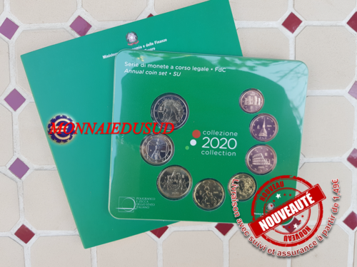 Coffret BU 1 Cent à 2 Euro Italie 2020 - Brillant Universel Officiel