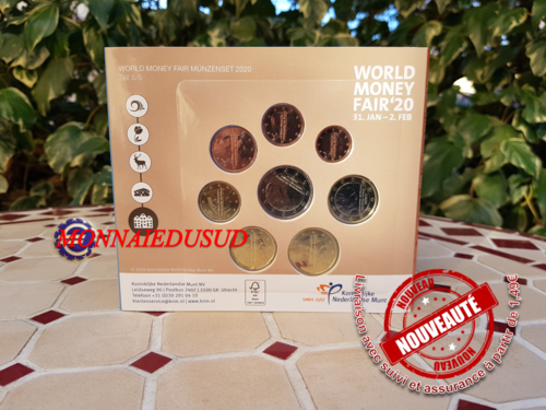 Coffret BU 1 Cent à 2 Euro Pays-Bas 2020 - World Money Fair