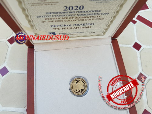 200 Euro BE/Proof OR Grèce 2020  Persians wars - Belle Epreuve
