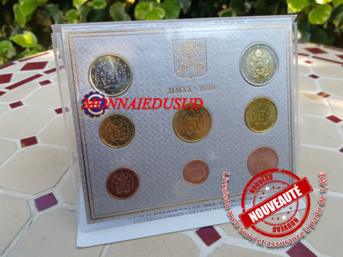 Coffret BU 1 Cent à 2 Euro Vatican 2020 - Brillant Universel Officiel