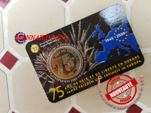 Coincard 2,50 Euro Commémorative Belgique 2020 - Paix en Europe Version Francaise FR