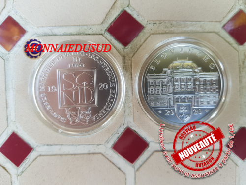 10 Euro Argent Slovaquie 2020 BU - Theatre National Slovaque