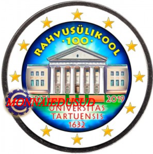 2 Euro Commémorative Estonie 2019 en Couleur Type C - Université de Tartu