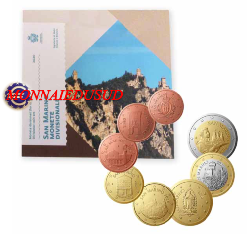 Coffret BU 1 Cent à 2 Euro Saint-Marin 2020 - Coffret Officiel